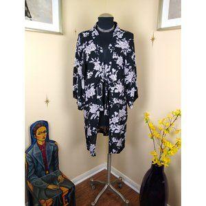 Spiritual Gangster Black Floral Kimono